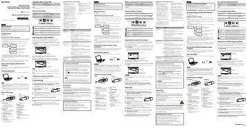 Sony NWZ-B153 - NWZ-B153 Istruzioni per l'uso Inglese