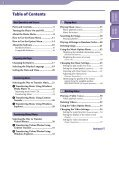Sony NWZ-E444 - NWZ-E444 Istruzioni per l'uso Inglese - Page 3