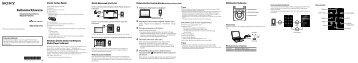 Sony NWZ-S754 - NWZ-S754 Guida di configurazione rapid Turco