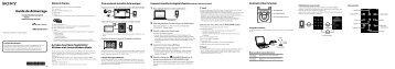 Sony NWZ-S754 - NWZ-S754 Guida di configurazione rapid Francese