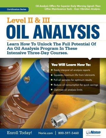 Practical Oil Analysis - Noria Corporation