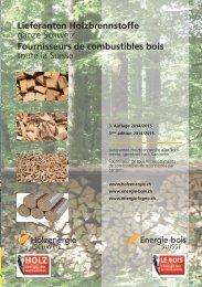 Lieferanten Holzbrennstoffe - Energie-bois Suisse
