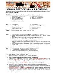 13D10N BEST OF SPAIN & PORTUGAL