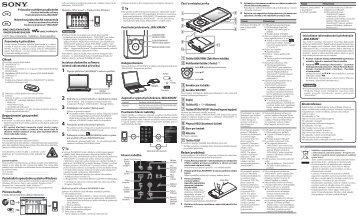 Sony NWZ-E463K - NWZ-E463K Guida di configurazione rapid Ceco