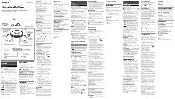 Sony D-EJ011 - D-EJ011 Istruzioni per l'uso Inglese