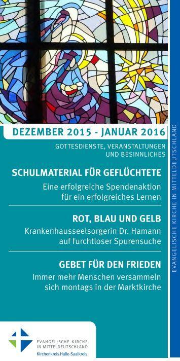 Programm des Evang. Kirchenkreises Halle-Saalkreis für Dezember 2015 - Januar 2016