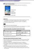Sony NWZ-A864 - NWZ-A864 Istruzioni per l'uso Spagnolo - Page 5