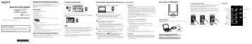 Sony NWZ-A864 - NWZ-A864 Guida di configurazione rapid Spagnolo