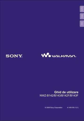 Sony NWZ-B142 - NWZ-B142 Istruzioni per l'uso Rumeno