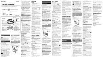 Sony D-NE241 - D-NE241 Istruzioni per l'uso Svedese