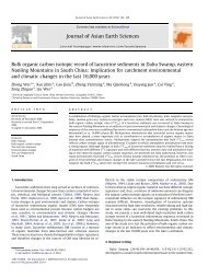 Bulk organic carbon isotopic record of lacustrine sediments in Dahu ...