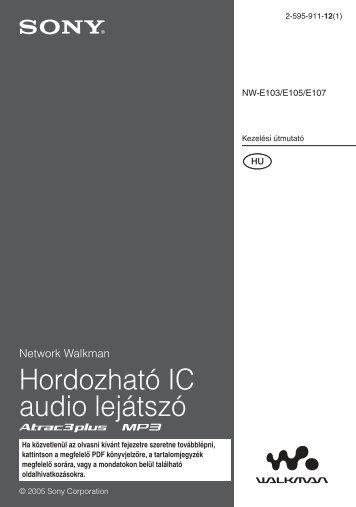 Sony NW-E103 - NW-E103 Istruzioni per l'uso Ungherese