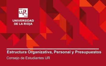 Estructura Organizativa Personal y Presupuestos