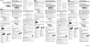 Sony NWZ-B143 - NWZ-B143 Istruzioni per l'uso Francese