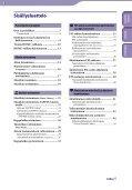 Sony NWZ-B143F - NWZ-B143F Istruzioni per l'uso Finlandese - Page 3
