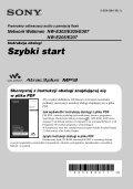 Sony NW-E305 - NW-E305 Istruzioni per l'uso Polacco - Page 3