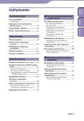 Sony NWZ-B143 - NWZ-B143 Istruzioni per l'uso Finlandese - Page 3