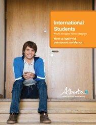 AINP: International Student brochure - Alberta, Canada