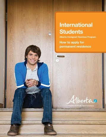 AINP: International Student brochure - Alberta, Canada
