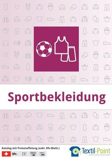 Sportbekleidung - Katalog (Textil-Point GmbH)