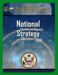 National CI Strategy 2016_Unclassified_Final