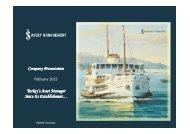 Company Presentation Turkey's Asset Manager Since Its Establishment…