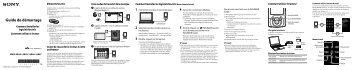 Sony NWZ-A845 - NWZ-A845 Guida di configurazione rapid Francese