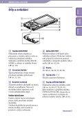 Sony NWZ-A845 - NWZ-A845 Istruzioni per l'uso Ceco - Page 6