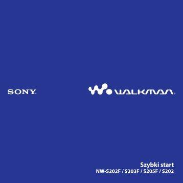 Sony NW-S205F - NW-S205F Istruzioni per l'uso Polacco