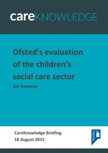 Ofsted's evaluation of the children's social care sector
