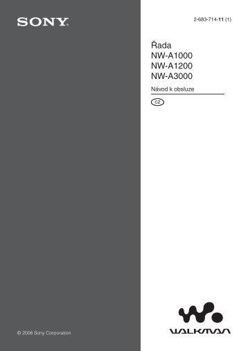 Sony NW-A1200 - NW-A1200 Istruzioni per l'uso Ceco