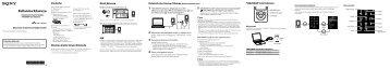 Sony NWZ-S763 - NWZ-S763 Guida di configurazione rapid Turco