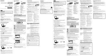 Sony NWZ-B163F - NWZ-B163F Istruzioni per l'uso Inglese