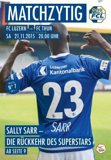 FC LUZERN Matchzytig N°7 15/16 (RSL 16)
