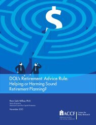 DOL's Retirement Advice Rule Helping or Harming Sound Retirement Planning?