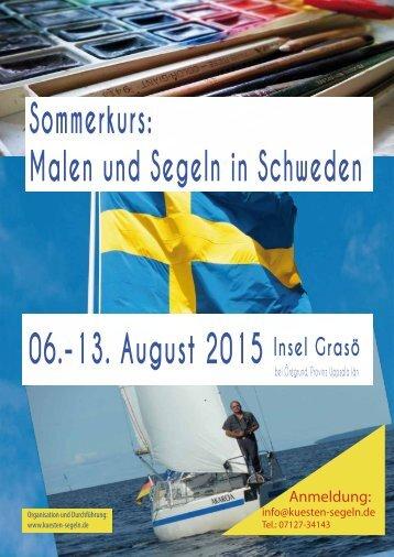 Sommerkurs Malen und Segeln in Schweden