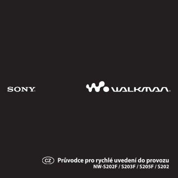 Sony NW-S202 - NW-S202 Istruzioni per l'uso Ceco
