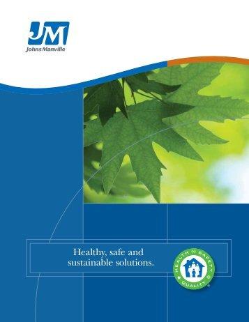 JM Sustainability Brochure - Johns Manville
