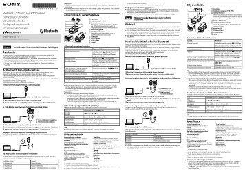 Sony NWZ-S765BT - NWZ-S765BT Istruzioni per l'uso Ungherese