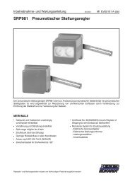 SRP981 Pneumatischer Stellungsregler - FOXBORO ECKARDT ...