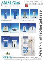 Dewar- und Isoliergefässe Amsi-Glas