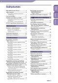 Sony NWZ-S636F - NWZ-S636F Istruzioni per l'uso Finlandese - Page 4