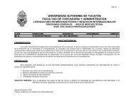 UNIVERSIDAD AUTONOMA DE YUCATAN FACULTAD DE CONTADURIA Y ADMINISTRACION