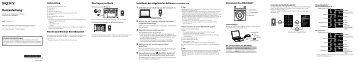 Sony NWZ-E474 - NWZ-E474 Istruzioni per l'uso Tedesco