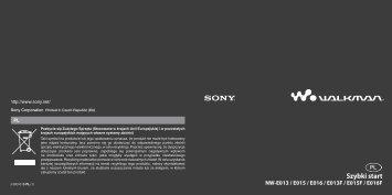 Sony NW-E015F - NW-E015F Istruzioni per l'uso Polacco