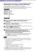 Sony NWZ-A865 - NWZ-A865 Istruzioni per l'uso Tedesco - Page 7