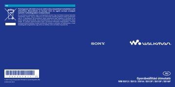 Sony NW-E015F - NW-E015F Istruzioni per l'uso Ungherese