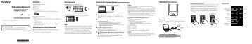 Sony NWZ-A865 - NWZ-A865 Guida di configurazione rapid Turco