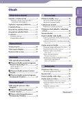 Sony NWZ-S544 - NWZ-S544 Istruzioni per l'uso Ceco - Page 3