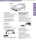Sony NWZ-S544 - NWZ-S544 Istruzioni per l'uso Finlandese - Page 6